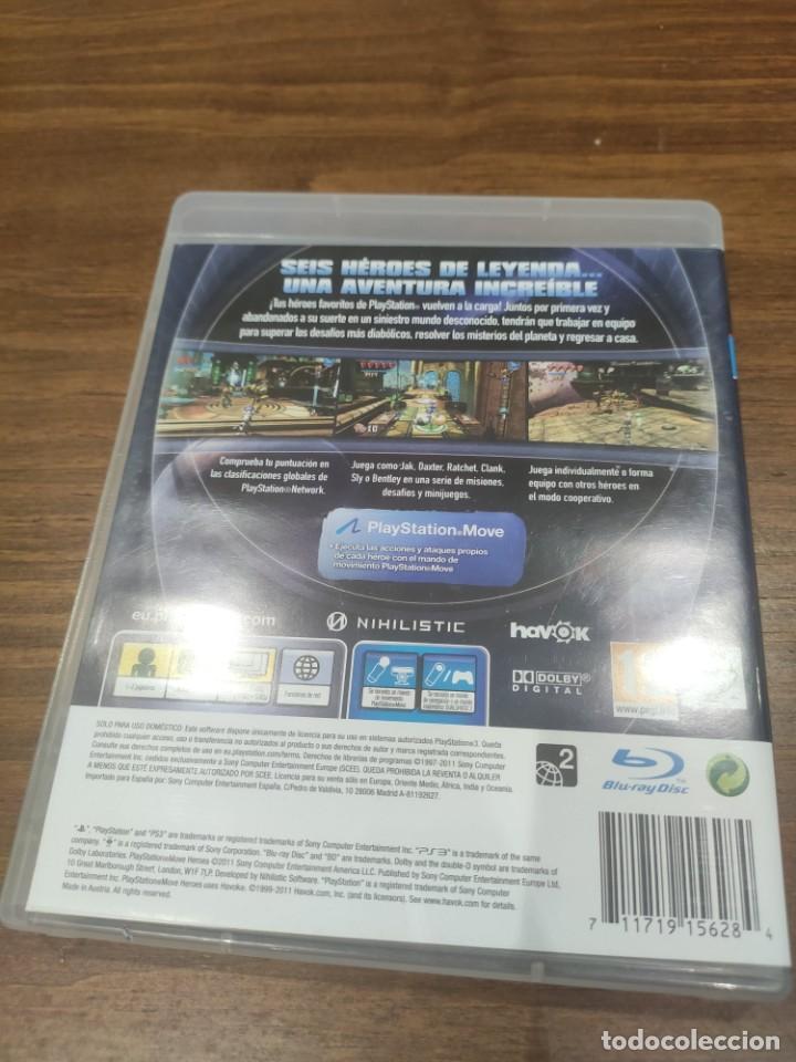 Videojuegos y Consolas: PlayStation Move Heroes - PS3 + Manual - Muy buen estado - Foto 2 - 222144176