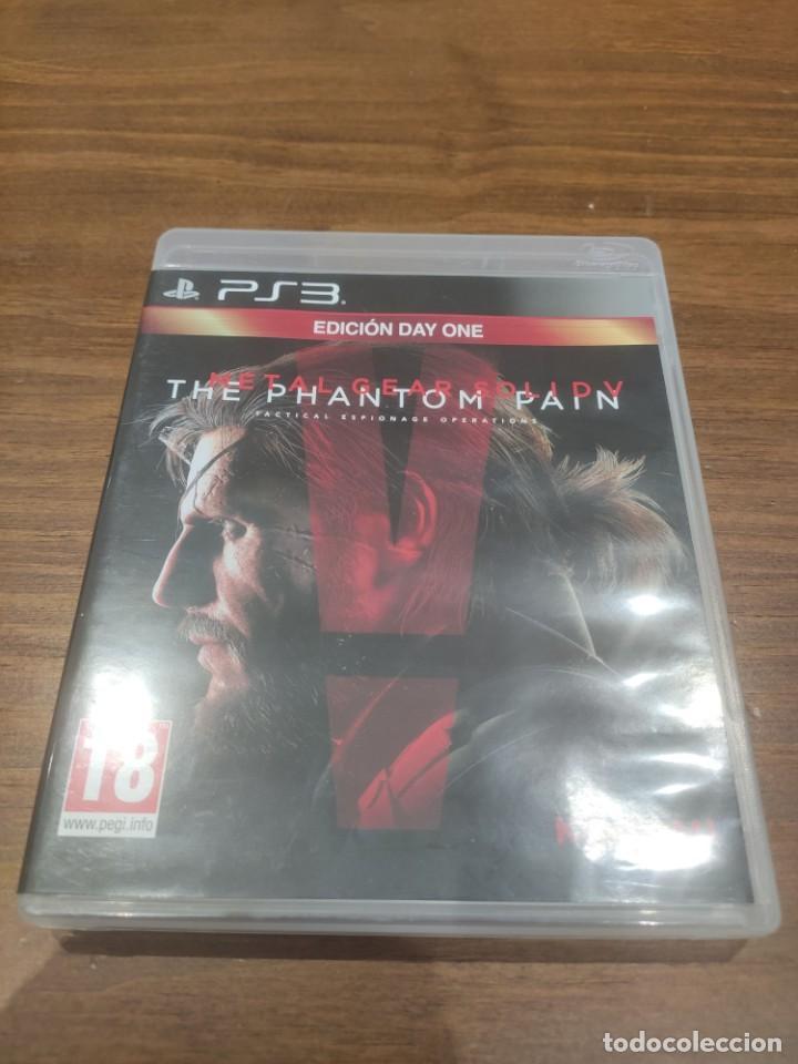 METAL GEAR SOLID V THE PHANTOM PAIN EDICION DAY ONE - PS3 + MANUAL - MUY BUEN ESTADO (Juguetes - Videojuegos y Consolas - Sony - PS3)