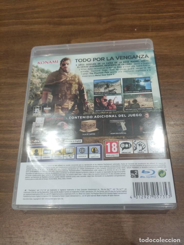 Videojuegos y Consolas: Metal Gear Solid V The Phantom Pain Edicion Day ONE - PS3 + Manual - Muy buen estado - Foto 2 - 222196660