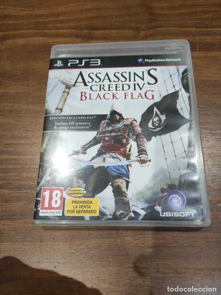 ASSASSINS CREED IV BLACK FLAG + MANUAL - PS3 - MUY BUEN ESTADO (LEER DESCRIPCION) (Juguetes - Videojuegos y Consolas - Sony - PS3)