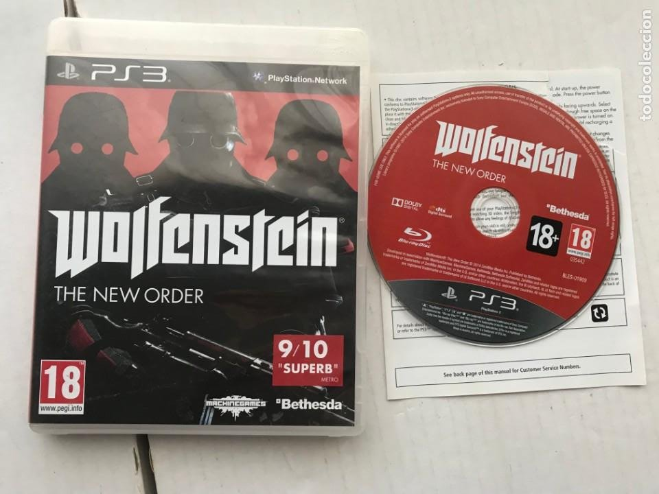WOLFENSTEIN THE NEW ORDER BETHESDA PS3 PLAYSTATION 3 PLAY STATION KREATEN (Juguetes - Videojuegos y Consolas - Sony - PS3)