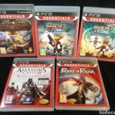 Videojuegos y Consolas: LOTE 5 JUEGOS PS3, RATCHET, RATCHET ATRAPADOS, ASSASSIN'S 2, MOTOR STORM APOCALYPSE, PRINCE OF PERS. Lote 227808275