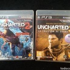 Videojuegos y Consolas: 2 JUEGOS PS3, UNCHARTED 2 Y UNCHARTED 3. Lote 227808990