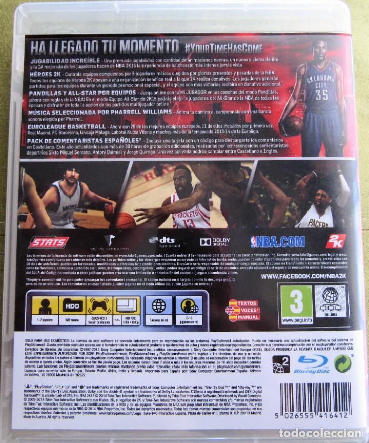 Videojuegos y Consolas: NBA2K15 JUEGO DE BALONCESTO NBA 2K 15 - Foto 2 - 232528985