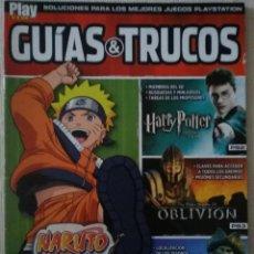 Videojuegos y Consolas: PLAYMANIA GUIAS Y TRUCOS NARUTO, HARRY POTTER, OBLIVION, PIRATAS DEL CARIBE PS2 Y PS3. Lote 233203080