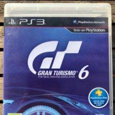 Videojuegos y Consolas: GRAN TURISMO 6. JUEGO PARA PS3 PLAYSTATION 3. INSTRUCCIONES EN ESPAÑOL, VER FOTOS.. Lote 234552315