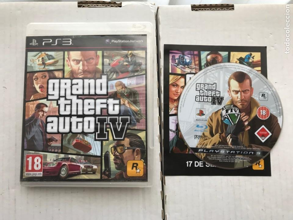 GRAND THEFT AUTO IV GTA 4 PS3 PLAYSTATION 3 PLAY STATION KREATEN (Juguetes - Videojuegos y Consolas - Sony - PS3)