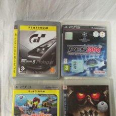 Videojuegos y Consolas: PS3 GRAN TURISMO 5 PES 2014 MODNATION RACERS KILLZONE 2. Lote 237029725