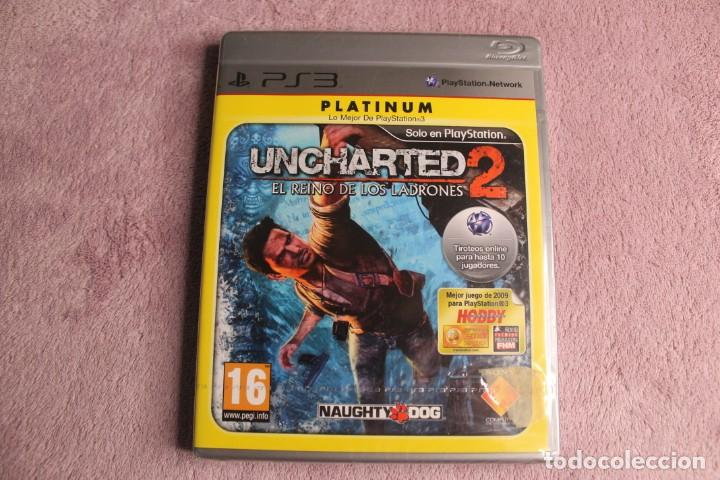 UNCHARTED 2 EL REINO DE LOS LADRONES PLATINIUM PS3 PRECINTADO (Juguetes - Videojuegos y Consolas - Sony - PS3)