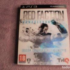 Videojuegos y Consolas: RED FACTION ARMAGEDON EDICIÓN COMANDO Y RECONOCIMIENTO PS3. Lote 238157305