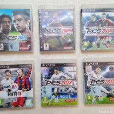 Videojuegos y Consolas: LOTE DE 6 JUEGOS PLAY STATION 3 DE FÚTBOL ( PES 2008 AL 2013 ). Lote 239911470