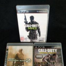 Videojuegos y Consolas: PS3 LOTE 3 JUEGOS CALL OF DUTY, MW3, ADVANCED WARFARE Y MODERNO WARFARE2.. Lote 244194070
