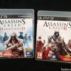 Videojuegos y Consolas: LOTE 2 JUEGOS ASSASSIN'S CREED, ASSASSIN'S CREED II. Lote 244195390
