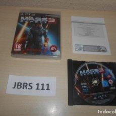 Videojuegos y Consolas: PS3 - MASS EFFECT 3 , PAL ESPAÑOL , COMPLETO. Lote 244639790