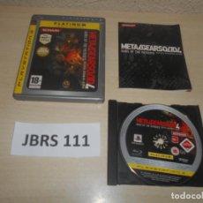 Videojuegos y Consolas: PS3 - METAL GEAR SOLDI 4 , PAL UK , INCLUYE ESPAÑOL , COMPLETO. Lote 244640060