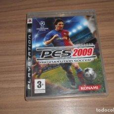 Videojuegos y Consolas: PES 2009 PRO EVOLUTION SOCCER COMPLETO PLAYSTATION 3 PAL ESPAÑA. Lote 244767890