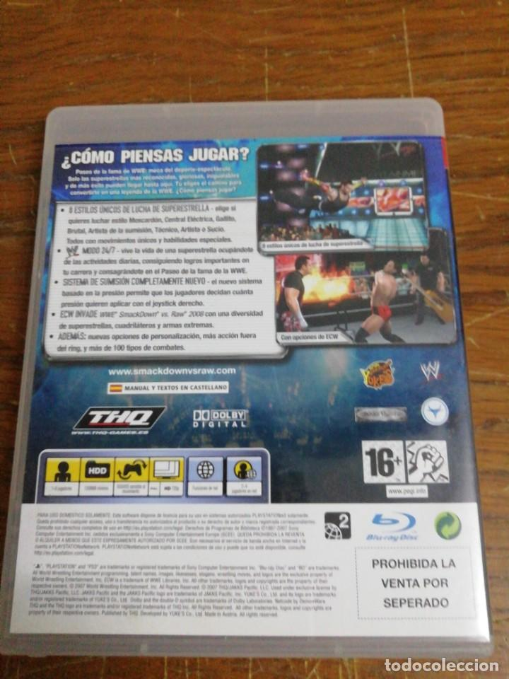 Videojuegos y Consolas: SMACK DOWN VERSUS RAW 2008 /PLAY 3 - Foto 3 - 244802190