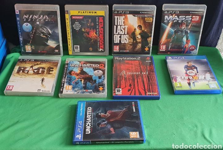 LOTE DE JUEGOS PLAYSTATION 3 Y 4 Y 2 TAL CUAL COMO SE VE EN FOTOS (Juguetes - Videojuegos y Consolas - Sony - PS3)