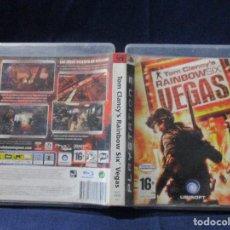 Videojuegos y Consolas: PS3 - CARÁTULA / TOM CLANCY'S RAINBOW SIX VEGAS / PAL / PLAYSTATION 3 DE VIDEOCLUB. Lote 256157605