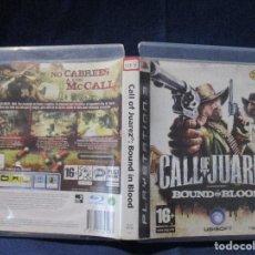 Videojuegos y Consolas: PS3 - CARÁTULA / CALL OF JUAREZ BOUND IN BLOOD / PAL / PLAYSTATION 3 DE VIDEOCLUB. Lote 256159200