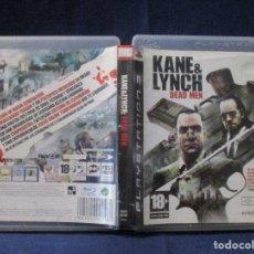 Videojuegos y Consolas: PS3 - CARÁTULA / KANE & LYNCH DEAD MEN / PAL / PLAYSTATION 3 DE VIDEOCLUB. Lote 256159690