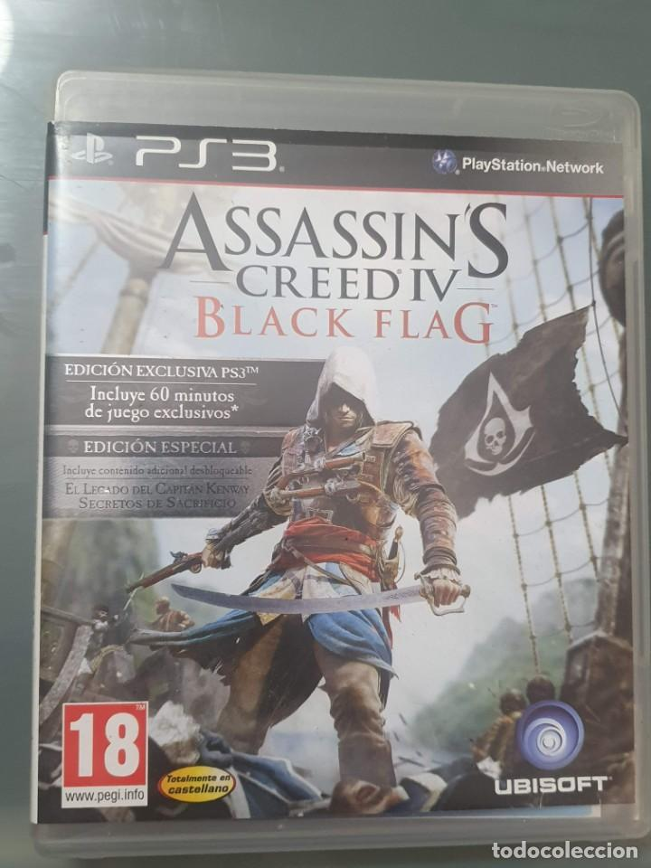 ASSASSINS CREED IV . BLACK FLAG . PS3 PLAY STATION 3 CON MANUAL . BUEN ESTADO (Juguetes - Videojuegos y Consolas - Sony - PS3)