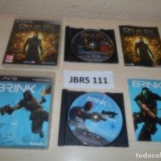 Videojuegos y Consolas: PS3 - DEUS EX - HUMAN REVOLUTION + BRINK. Lote 261285260
