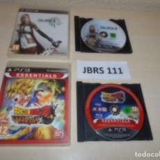 Videojuegos y Consolas: PS3 - FINAL FANTASY XIII + DRAGON BALL Z ULTIMATE TENKAICHI. Lote 261285430