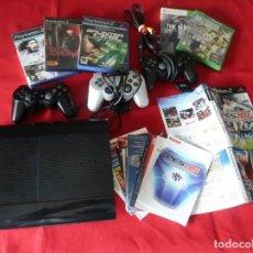 Videojuegos y Consolas: PLAYSTATION 3, MANDOS PS3 PS2 CARATULAS, INSTRUCCIONES... (LEER) PARA ARREGLAR O PIEZAS. Lote 261909105