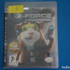 Videojuegos y Consolas: VIDEOJUEGO DE PLAYSTATION 3 PS3 G-FORCE LICENCIA PARA ESPIAR AÑO 2009 Nº 8. Lote 263690245