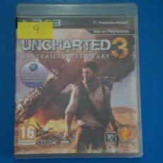 Videojuegos y Consolas: VIDEOJUEGO DE PLAYSTATION 3 PS3 UNCHARTED 3 LA TRAICION DE DRAKE AÑO 2011 Nº 9. Lote 263690850