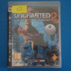 Videojuegos y Consolas: VIDEOJUEGO DE PLAYSTATION 3 PS3 UNCHARTED 2 EL REINO DE LOS LADRONES AÑO 2009 Nº 10. Lote 263691100