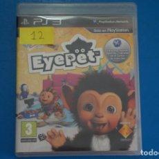 Videojuegos y Consolas: VIDEOJUEGO DE PLAYSTATION 3 PS3 EYEPET AÑO 2009 Nº 12. Lote 263691590