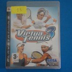 Videojuegos y Consolas: VIDEOJUEGO DE PLAYSTATION 3 PS3 VIRTUA TENNIS 3 AÑO 2007 Nº 13. Lote 263692045