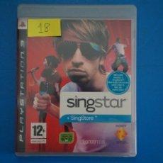 Videojuegos y Consolas: VIDEOJUEGO DE PLAYSTATION 3 PS3 SINGSTAR AÑO 2007 Nº 18. Lote 263693495