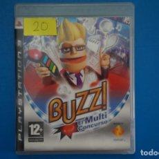 Videojuegos y Consolas: VIDEOJUEGO DE PLAYSTATION 3 PS3 BUZZ! EL MULTI CONCURSO AÑO 2008 Nº 20. Lote 263693905