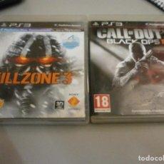 Videojuegos y Consolas: PS3 KILLZONE 3 Y CALLOF DUTY BLACK OPS 2. Lote 274581778
