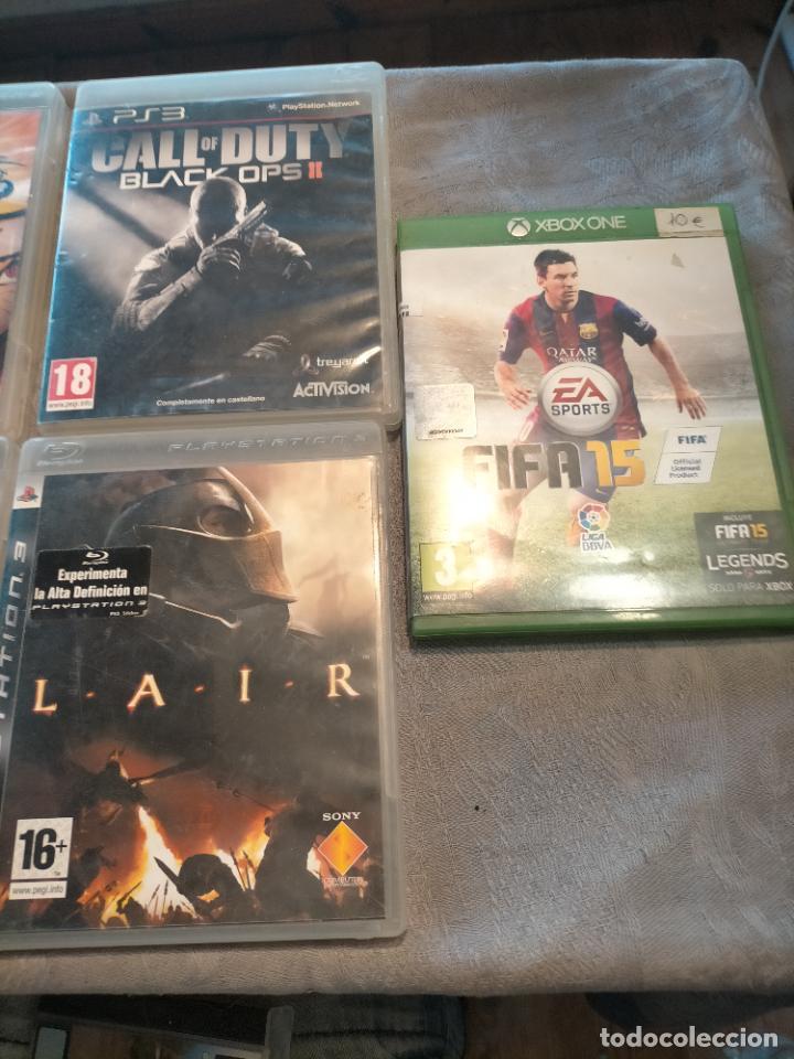 Videojuegos y Consolas: PACK DE PLAYSTATION 3 LAIR GUITAR HERO CALL OF DUTY BLACK OPS II NARUTO NINJA Y FIFA 15 DE XBOX ONE - Foto 2 - 276571173