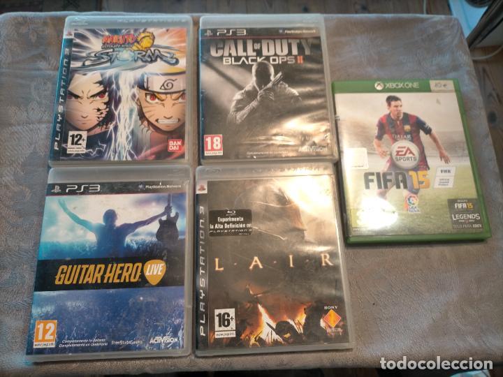 PACK DE PLAYSTATION 3 LAIR GUITAR HERO CALL OF DUTY BLACK OPS II NARUTO NINJA Y FIFA 15 DE XBOX ONE (Juguetes - Videojuegos y Consolas - Sony - PS3)