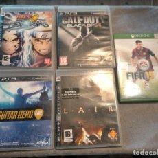 Videojuegos y Consolas: PACK DE PLAYSTATION 3 LAIR GUITAR HERO CALL OF DUTY BLACK OPS II NARUTO NINJA Y FIFA 15 DE XBOX ONE. Lote 276571173