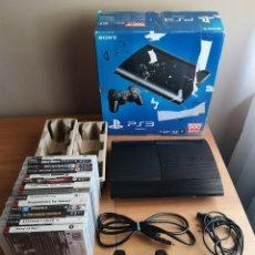 Videojuegos y Consolas: PS3 SUPER SLIM 500GB CECH 4004C + 14 JUEGOS (APARTE). Lote 277126583