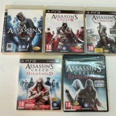 Videojuegos y Consolas: LOTE DE 5 JUEGOS ASSASIN'S CREES PARA LA PS3.. Lote 278695753