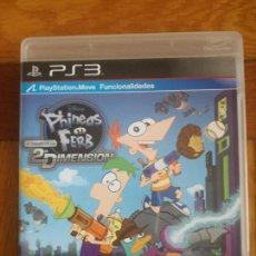 Videojuegos y Consolas: PHINEAS Y FERB A TRAVES DE LA 2ª DIMENSION PS3 VIDEOJUEGO EN MUY BUEN ESTADO. Lote 289022588