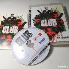 Videojuegos y Consolas: CLUB ( PS3 - PAL - ESP ). Lote 295813133