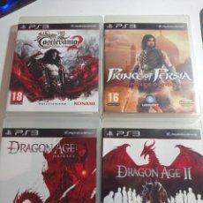 Videojogos e Consolas: LOTE 4 JUEGOS RESERVADO PRINCE OF PERSIA DRAGON AGE 1 Y 2 CASTELVANIA 2 PS3 PAL. Lote 295822003