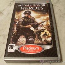 Videojuegos y Consolas: MEDAL OF HONOR HEROES JUEGO PSP CON INSTRUCCIONES ORIGINAL. Lote 27233791