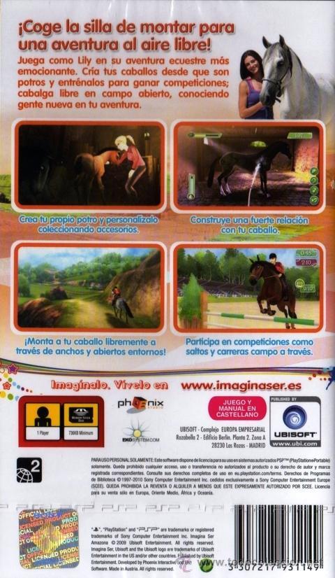 Videojuegos y Consolas: IMAGINA SER AMAZONA - JUEGO PSP TOTALMENTE EN CASTELLANO (PRECINTADO) - Foto 2 - 28746188