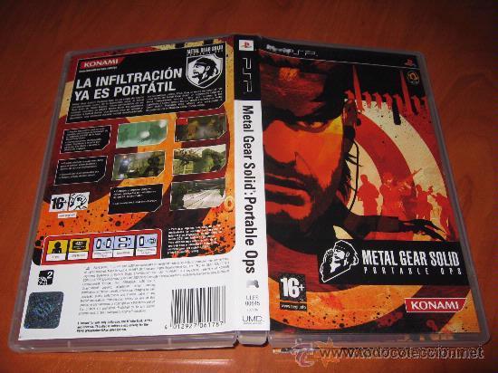 METAL GEAR SOLID PORTABLE OPS PARA PSP PAL ESPAÑA (Juguetes - Videojuegos y Consolas - Sony - Psp)