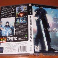 Videojuegos y Consolas: FINAL FANTASY VII CRISIS CORE PARA PSP COMPLETO PAL ESPAÑA. Lote 96069346