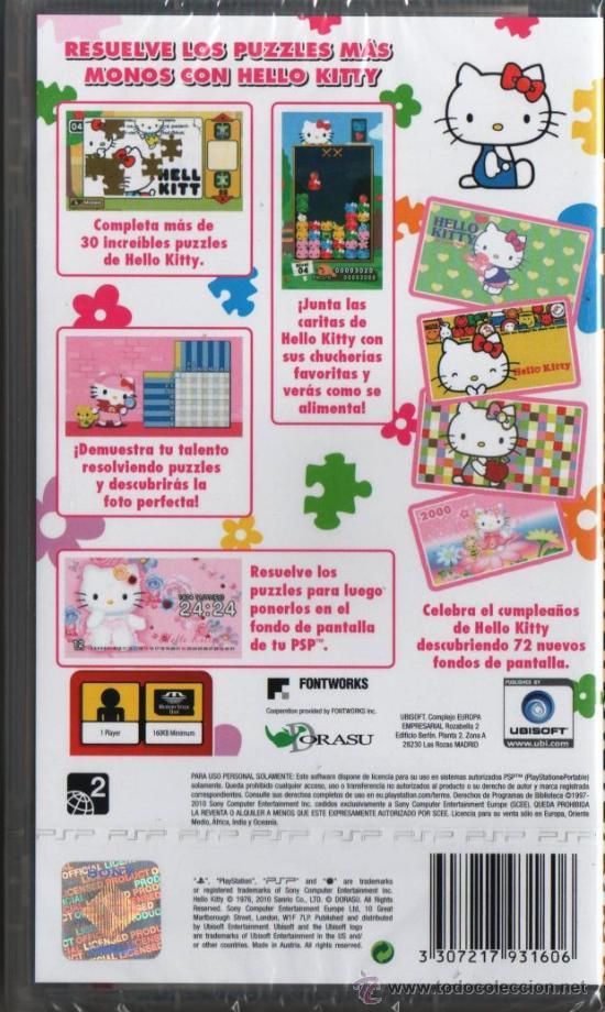 Videojuegos y Consolas: HELLO KITTY PUZZLE PARTY - JUEGO PSP (PRECINTADO) - Foto 2 - 61314681